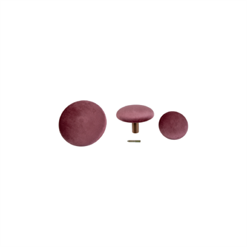 House Nordic Giza Knobs, Rosa Velour